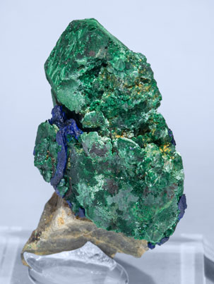 Malachite after Azurite and Azurite. Rear