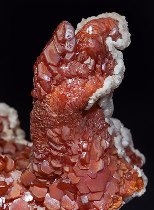 Vanadinite with Calcite.
