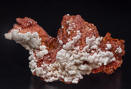 Vanadinite with Calcite. Rear
