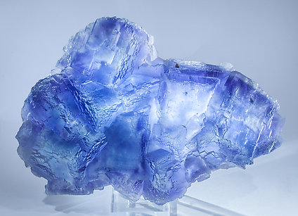 Fluorite with Chalcopyrite. Light behind