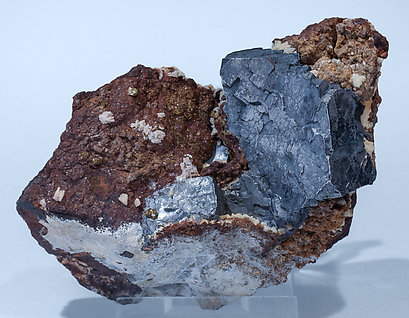 Galena with Siderite, Calcite and Pyrite.