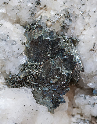 Marcasite with Calcite-Dolomite and Chalcopyrite.