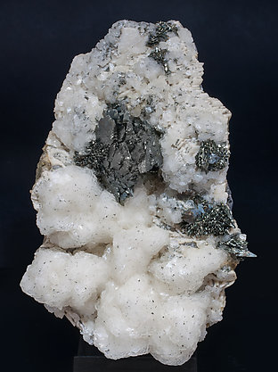 Marcasite with Calcite-Dolomite and Chalcopyrite. Side