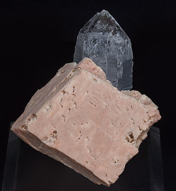 Microcline with Quartz (variety smoky).