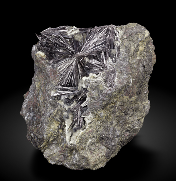 Kermesite with Calcite.