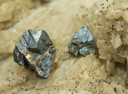 Chalcopyrite with Dolomite and Calcite.