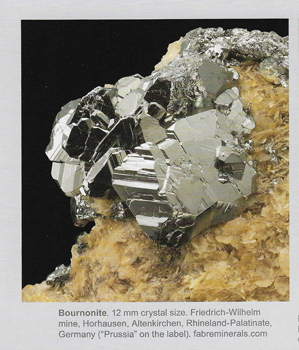 Bournonite on Siderite