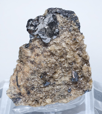 Bournonite on Siderite.