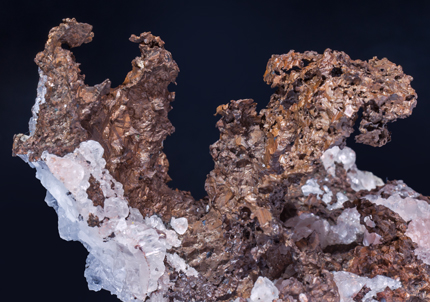 Copper with Calcite.