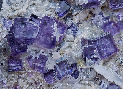 Fluorite and Calcite.
