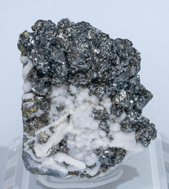 Miargyrite with Quartz and Chalcopyrite.