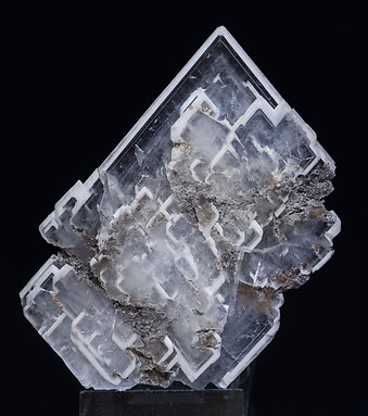 Baryte with inclusions. Rear