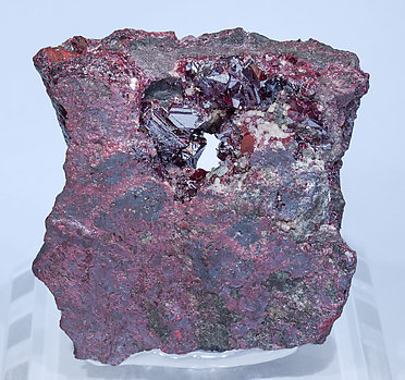Cinnabar with Dolomite and Mercury.