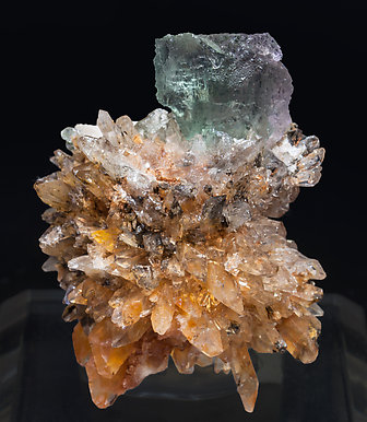 Fluorite on Creedite.