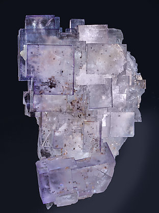 Fluorite with inclusions. Front