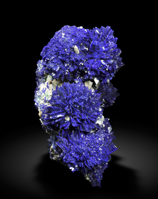 Azurite with Baryte. Front