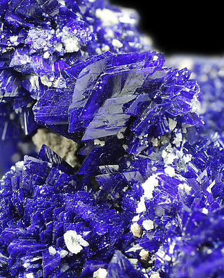 Azurite with Baryte.