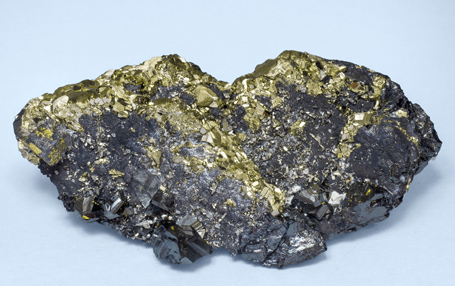 Bournonite with Sphalerite, Pyrite after Pyrrhotite and Galena.
