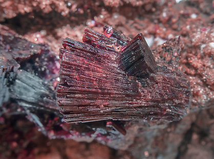 Erythrite on Skutterudite.