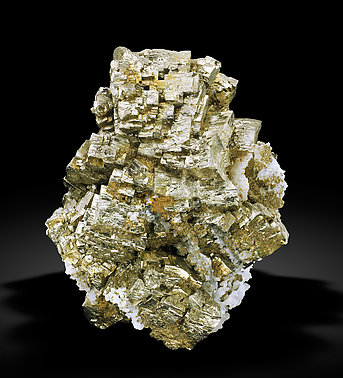Pyrite with Quartz. Front
