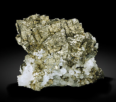 Pyrite with Quartz. Side