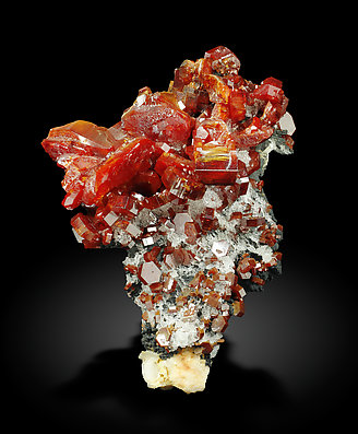Vanadinite with Gypsum and Baryte.