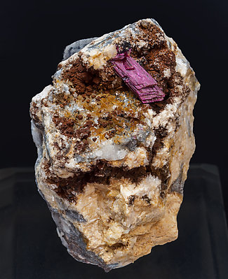 Erythrite with Calcite.