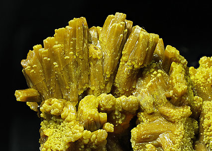 Pyromorphite. Close-up