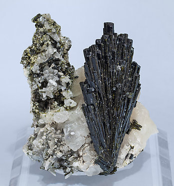 Epidote with Calcite and Quartz.