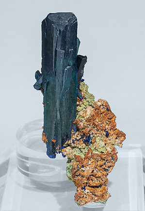 Azurite with Dolomite. Front