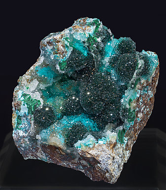 Atacamite with Chrysocolla and Quartz.