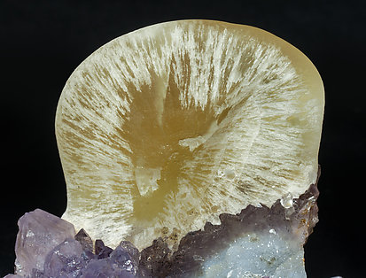 Fluorite with Quartz (variety amethyst).