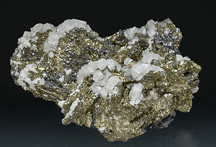 Pyrite after Pyrrhotite with Galena and Calcite.