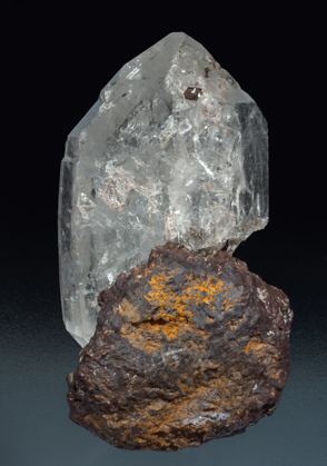 Quartz with Siderite. Rear
