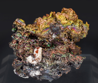 Cerussite after Anglesite with Goethite. Front