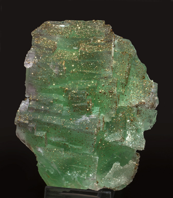 Fluorite with Pyrite and Quartz.