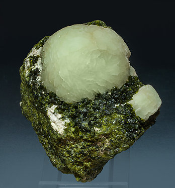 Prehnite with Epidote and Feldspar.