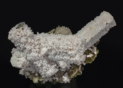 Calcite (variety kanonenspat) with Epidote and Quartz. Side