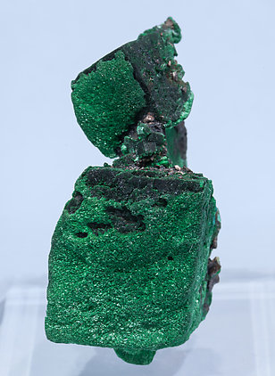 Malachite after Azurite with Copper.