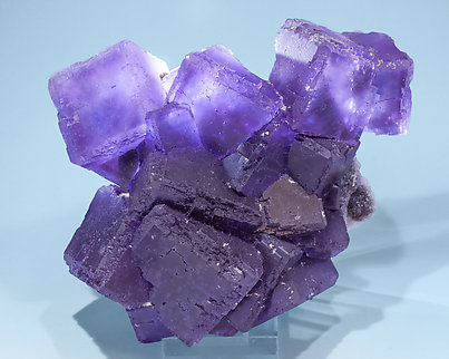 Fluorite with Quartz. Side with light behind