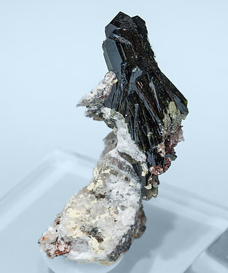Olivenite with Quartz. Side