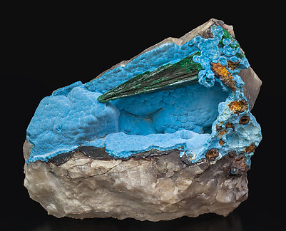 Shattuckite with Malachite.