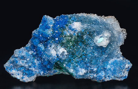 Shattuckite with Quartz, Chrysocolla and Malachite.
