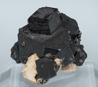 Andradite with Feldspar and Magnetite.