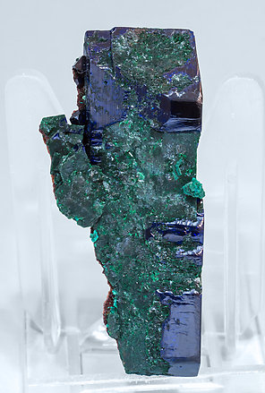 Azurite with Malachite. Front