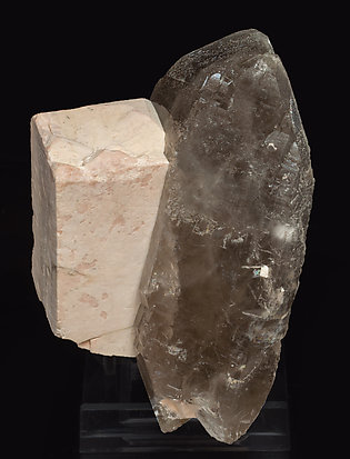 Microcline with Quartz (variety smoky). Side