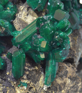 Dioptase with Chrysocolla.