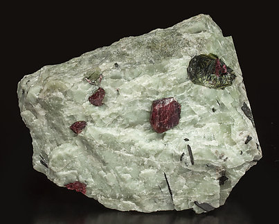 Eudialyte with Calcite.