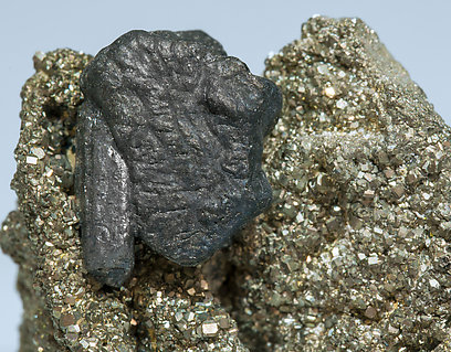 Ferrokesterite with Andorite on Pyrite.