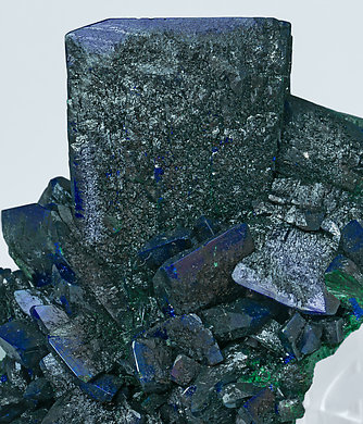 Malachite after Azurite with Malachite.